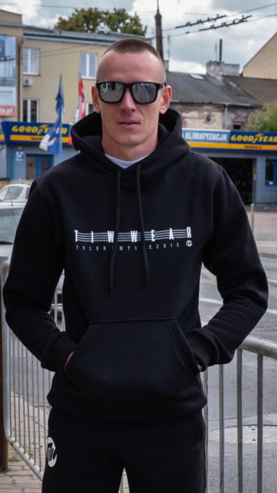 Bluza z kapturem TiW Lampas czarna